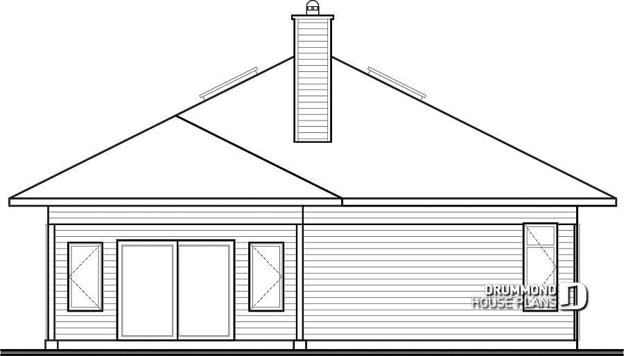 Im genes del plano de casa w3275 elevaci n de reverso for Planos de casas en linea