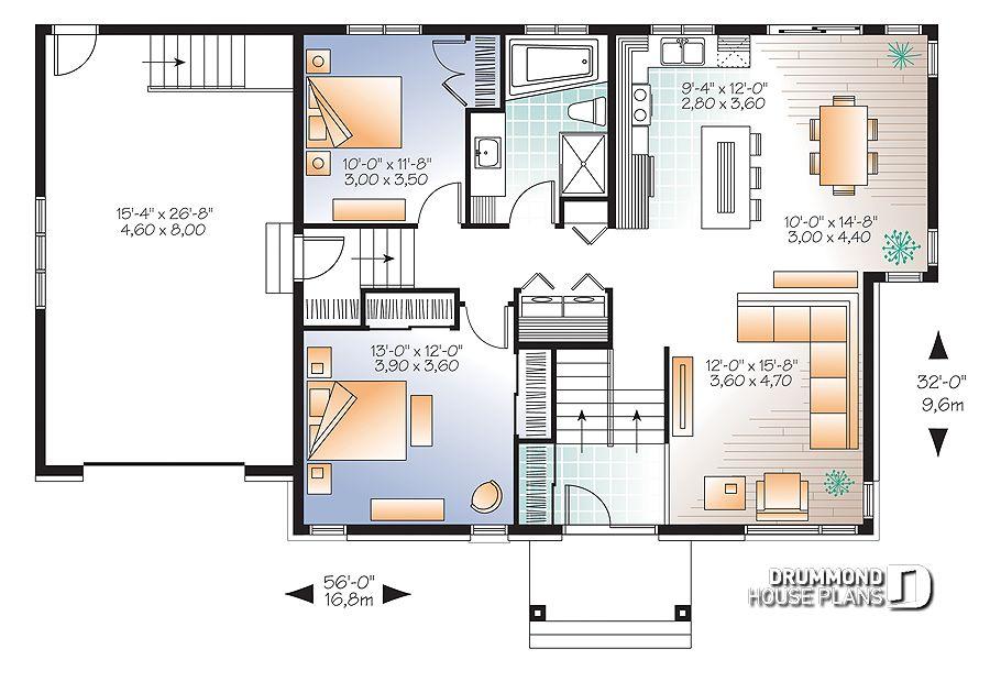 Im genes del plano de casa w3128 v2 primer nivel - Fotos de planos de casas ...