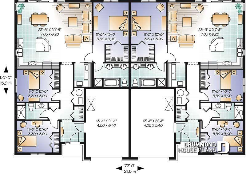 planos de casas de dos pisos en terreno de 10 x 30