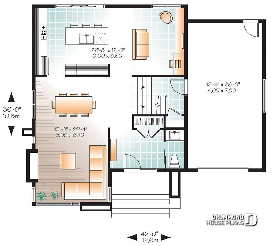 Im genes del plano de casa w3713 v1 primer nivel - Fotos de planos de casas ...
