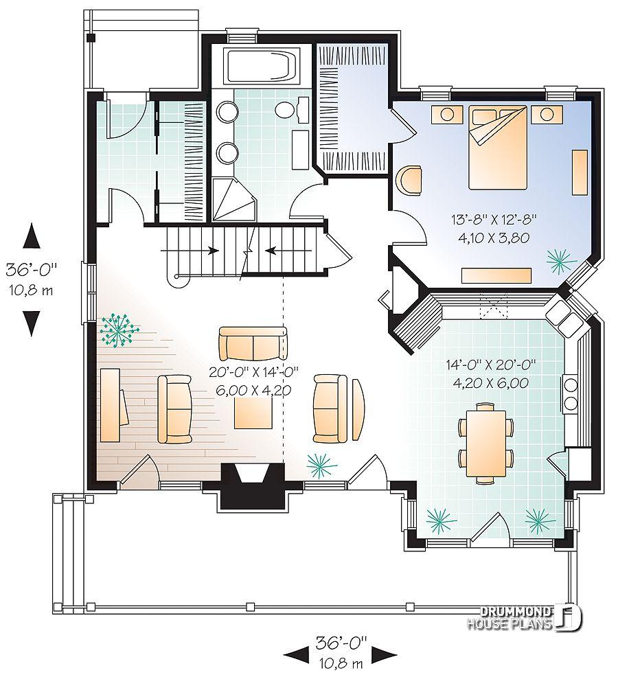 Проект дома в современном стиле чертеж