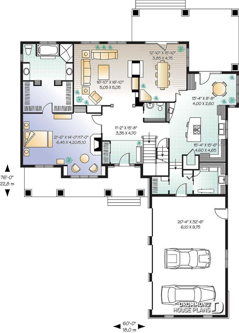 imágenes del plano de casa w2659 - primer nivel