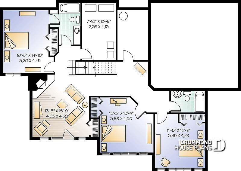 Im genes del plano de casa w3916 s tano - Bodegas en sotanos de casas ...